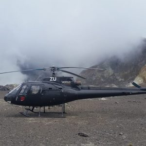 White Island Helicopter Landing