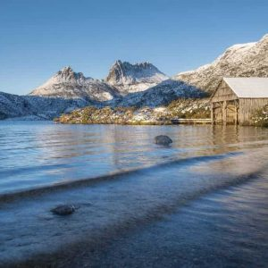Cradle Mountain in snow