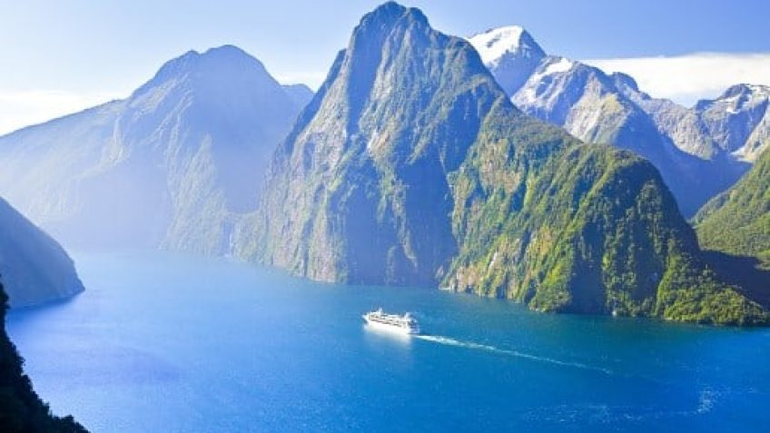 Cruise Ship in Milford Sounds