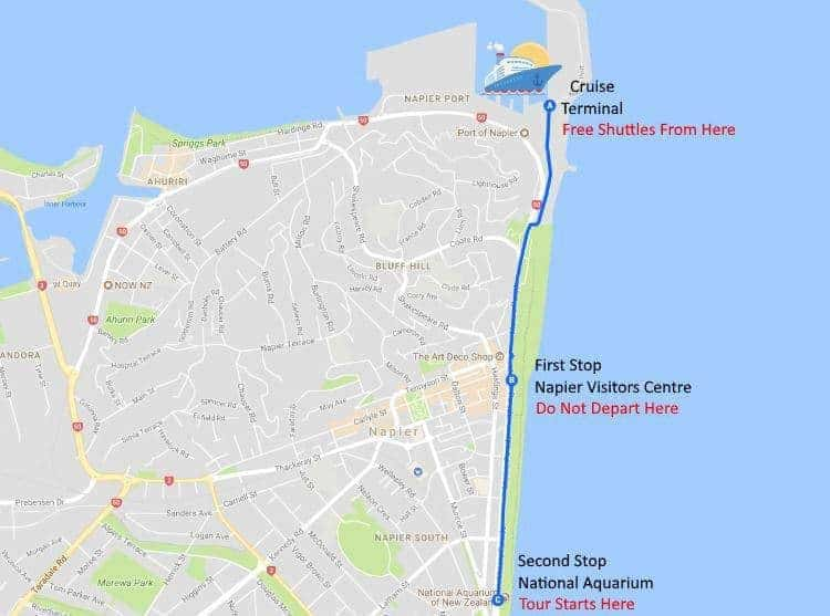Napier New Zealand Map.Port Maps Leisure Tours Cruise Excursions New Zealand Shore Trips