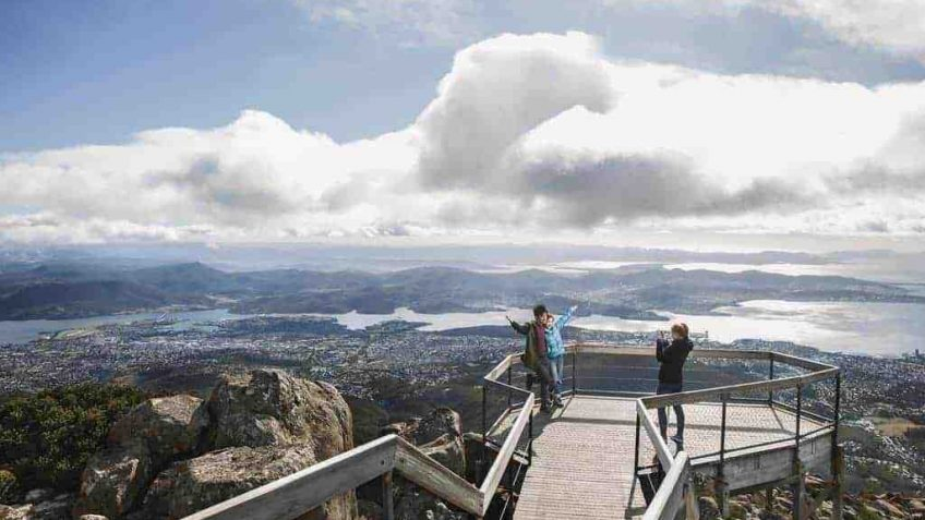 View of Hobart from Mt Wellington/kunanyi Lookout