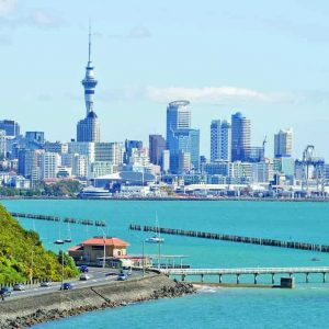 Auckland City from Tamaki Drive